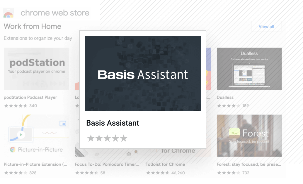 Basis Assistant browser extension