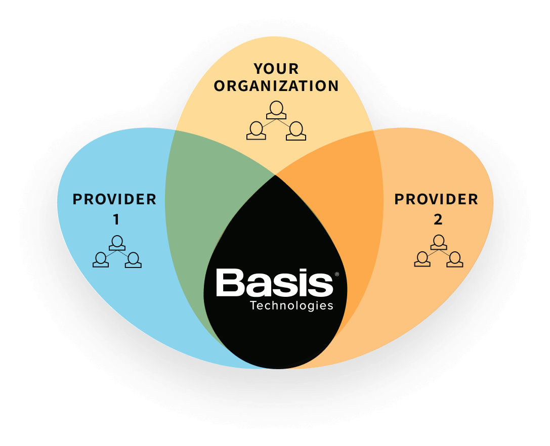 Visualization of how Basis ensures business continuity